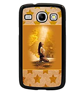 PrintDhaba Praying Girl D-3152 Back Case Cover for SAMSUNG GALAXY CORE i8262 (Multi-Coloured)