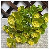 CGS2 Oreille de chat de fleurs artificielles en plastique plante verte Fausse fleur plante choix parfait for la décoration de couloir, bureau, table jardin intérieur de la maison et à l'extérieur