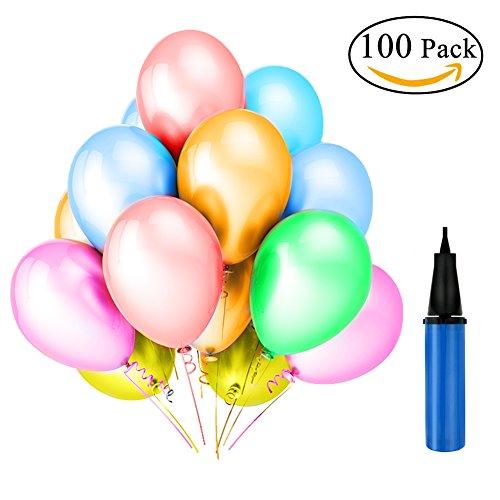 Tamaku (100 Stück) Luftballons,Pearl Bunte Partyballon,Bunte Ballons Sortierte Farben für Geburtstag, Weihnachten, Hochzeit,Dusche Party Dekorationen (Um Halloween-dekorationen Spaß Möglichkeiten,)