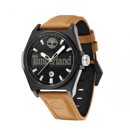 Timberland Herren-Armbanduhr XL Back Bay Analog Leder TBL13329JSB-02 -