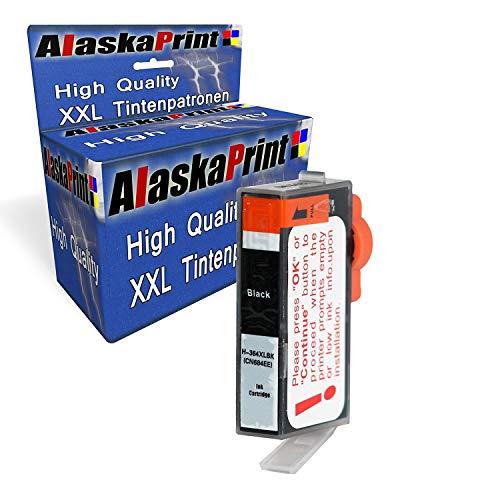 Alaskaprint 1x Druckerpatronen Kompatibel zu HP 364 XL 364xl Schwarz BK Black für HP Photosmart 5510 5511 5512 5514 5515 5520 5522 5524 6510 6520 6512 6515
