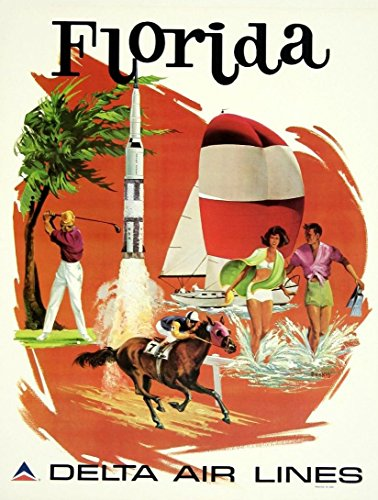 delta-air-lines-florida-wonderful-a4-glossy-art-print-taken-from-a-rare-vintage-travel-poster