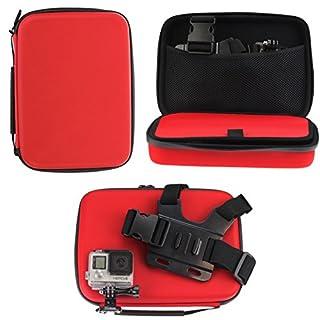 Navitech Rot Schock Sicheres Harten Fall / Abdeckung / Gehäuse für das Accfly 4K Sport Action Camera 12MP WiFi UHD Cam