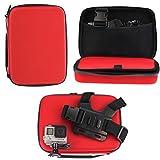 Navitech Rot Schock Sicheres Harten Fall / Abdeckung / Gehäuse für das WeyTy 4k Wifi Ultra HD Action Camera