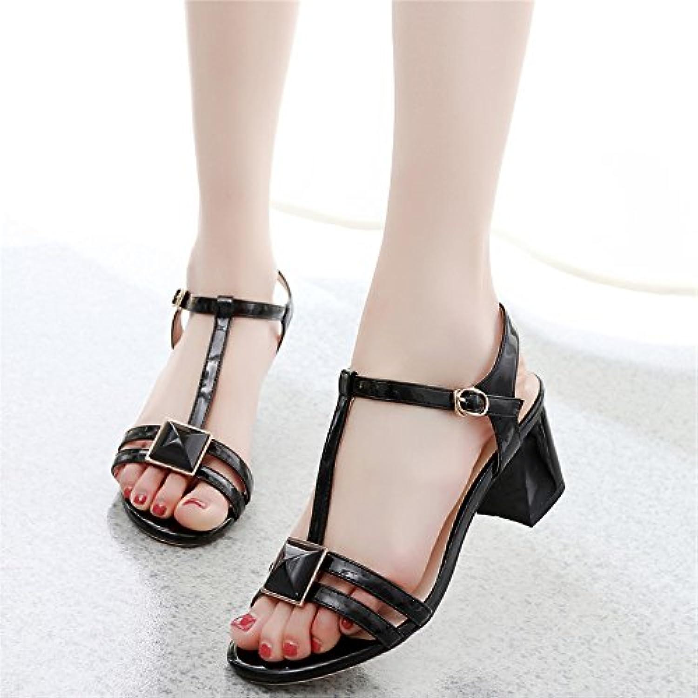 GTVERNH-5-8cm scarpe col col col tacco alto donna summer sandali con spessi tipo diamante t vuoto tutto corrisponde temperamento...   Altamente elogiato e apprezzato dal pubblico dei consumatori  b41670