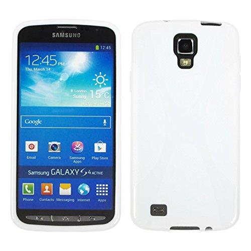 PhoneNatic Custodia Compatibile con Samsung Galaxy S4 Active Cover Bianco X-Style Galaxy S4 Active in Silicone + Pellicola Protettiva