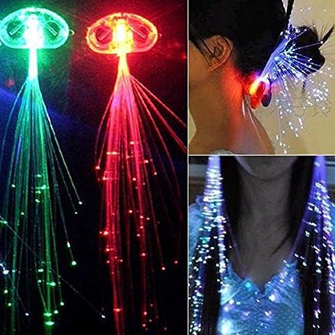 philna12LED Buntes Licht emittierende Braid Perücken Kopfschmuck Haarspange