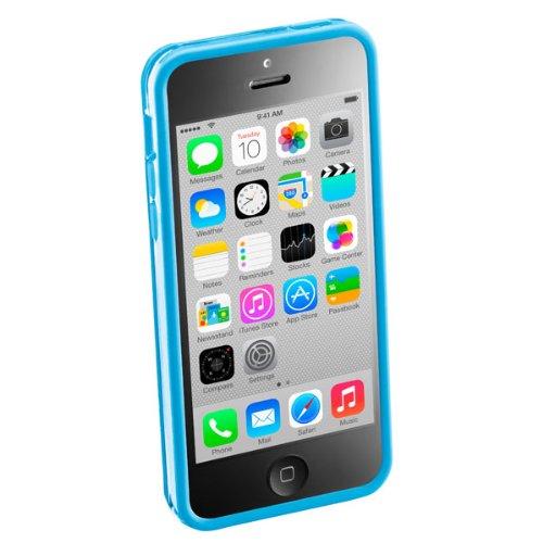 Cellular Line BUMPERIPH5CP Bumper Case für Apple iPhone 5C inkl. Folie/Microfasertuch/Staubentferner pink blau