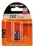 ANSMANN CR2 (3V) Lithium Photobatterie (1-er Pack) für Garagentoröffner, Alarmanlage, Funkauslöser für Kamera, Messgeräte, Klingel usw.