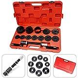 Todeco - Coffret d'Outils pour Roulement de Roue, 18 Pièces pour Solution de Réparation des Roulements de Roue - Matériau: Acier C45 - Dimension de cas: 52 x 30 x 9 cm - 17 pièces, avec une mallette rouge