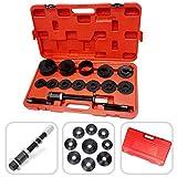 Todeco - Werkzeugsatz für Radlager, 18-teilige Reparaturlösung für Radlager - Material: C45 Stahl - Gehäusegröße: 52 x 30 x 9 cm - mit rotem Koffer, 17 Teile