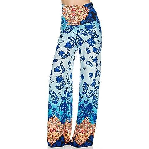 Estate Flair for U Pantaloni da donna Casual cod. comodissimi Stretch pantaloni blu turchese Arancione multicolore