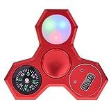 LEEHUR Fidget Spinner 4in1 mit Uhr, Kompass, LED, versch. Farben - 2