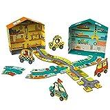 QHWJ Puzzle pour Enfants,Jouets éducatifs pour Les Enfants Casse-tête Double Face Route Voie navigable Circuit de 3 Ans Jeu d'éducation précoce pour garçons et Filles...