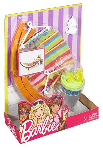 MATTEL Barbie Salon de jardin TV - Poupées et accessoires Poupée