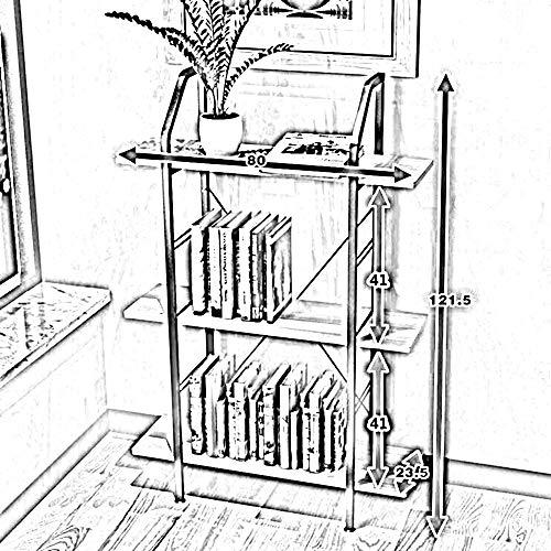 SED Wandkombinationsregal, Schreibtisch-Organisator, multifunktionales Lagerregal 3-Tier-Holzregal-Schiefen-Leiter-Regalregal Bücherregal Display Lager für Home-Office-Zubehör - Stauraum-insel