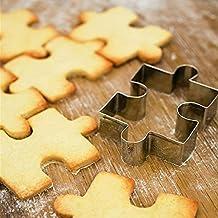 1pc acero inoxidable Forma de puzzle cortador de galletas molde herramienta de decoración de pasteles fondant