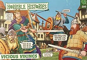 Horrible Histories PLG 7285 Vicious Vikings Rompecabezas de 250 Piezas de Paul Lamond Games, Color Verde