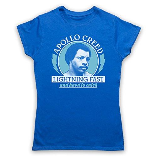 Inspiriert durch Rocky 2 Apollo Creed Lightning Fast Unofficial Damen T-Shirt Blau
