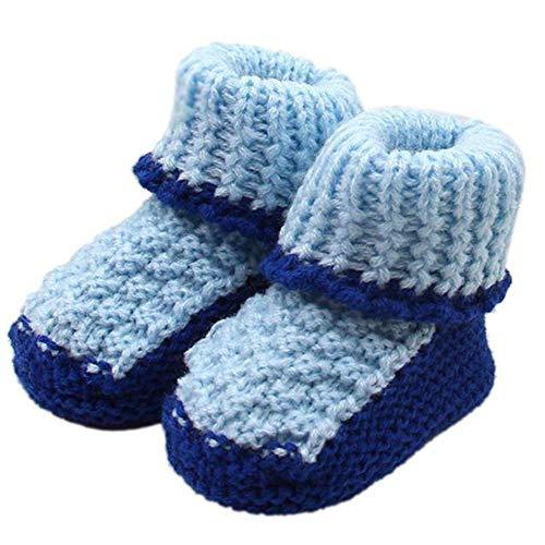 QinMM Zapatos de Punto para bebés recién Nacidos niña y niños Botas Primeros Pasos de Lana