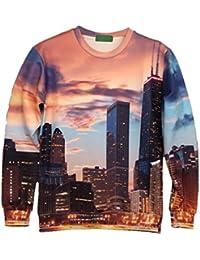 Demarkt Mode Homme Sweat-shirts/ Sweat/ Sweatshirt/ Sweat Swag avec 3D Image Individualisé sans Capuche M / L/ XL