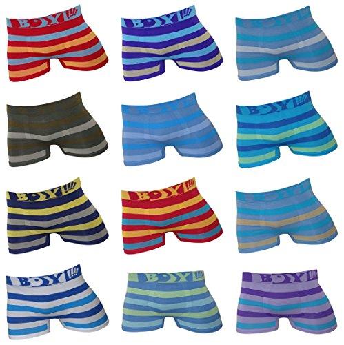 12er Pack Kids Jungen Microfaser UOMO Boxershorts Gr. 98 – 158