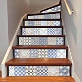 Jelinda Treppe Aufkleber Selbstklebend Renovierungs Wasserdicht DIY Wandtattoo Vinyl 6 Stück 18 x 100 cm