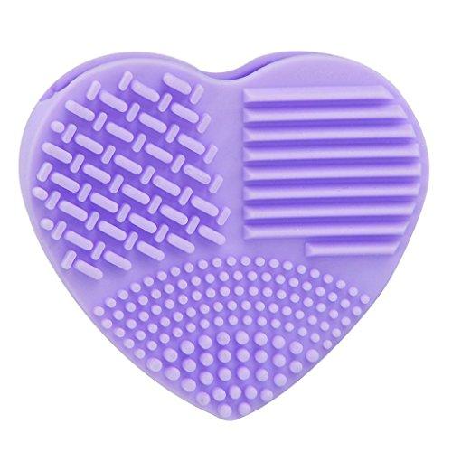 Waschen Kabuki-pinsel (feiXIANG silikon Eier bürste herzförmige Eierbürste mode - ei reinigung make - up waschen pinsel werkzeug (Lila))