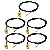 uxcell 5pcs RF1.13 IPEX 1.0 to SMA Male Connector Antenna WiFi Pigtail Cable