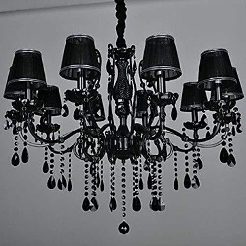 Ywqwdae Kronleuchter Crystal Modernes/Zeitgenössisches Wohnzimmer Crystal 10 Light Metal 220-240V M1756 [Energieklasse A +] - Zeitgenössischen, Modernen Kronleuchter