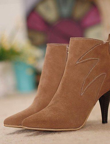 Moda Estilete Preto Vermelho Primavera Shangyi Feminina Outro Ocasional Femininos Leatherette Sapatos De Escritório Botas EnSC4xBzqB