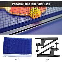 Tischtennisnetz mit Klammer und Metall Rahmen Ping Pong Ersatznetz Netzgarnitur