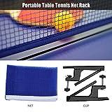 VGEBY Set Rete Ping-Pong, Rete da Tavolo da Tennis con Morsetto del Metallo