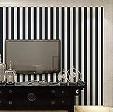 Pmhhc Papier Peint Rayé Noir Et Blanc De Haute Qualité Pour Murs Rouleau Moderne Pour Literie De Salon