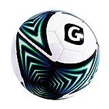 Glory Sports Pro Balle Ballon de Foot d'entraînement Match Football Spécial en TPU (Toucher Souple Coudre à la machine) Taille 4 Bleu-Blanc