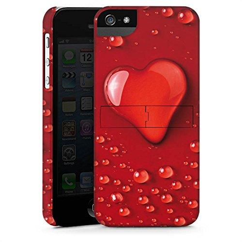 Apple iPhone 4 Housse Étui Silicone Coque Protection Amour eau goutte C½ur Motif CasStandup blanc