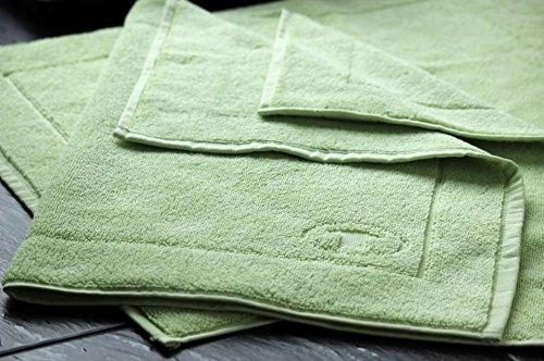 tomta Ilor tappetino da bagno tappetino da bagno tappetino doccia colore: verde tiglio, misura: 50x 70cm, 100% cotone, Qualità: 800G/m²