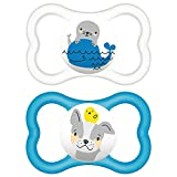 #4: MAM AIR 6+M SOOTHER (BLUE-CLEAR)