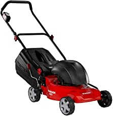 Sharpex 16-Inch Blade Metal Body Electric Lawn Mower with 55 LTR Grass Box & 100 Feet Cable, 20mm to 80mm Cutting Height (Motor - 1800 Watt, 2800 RPM)