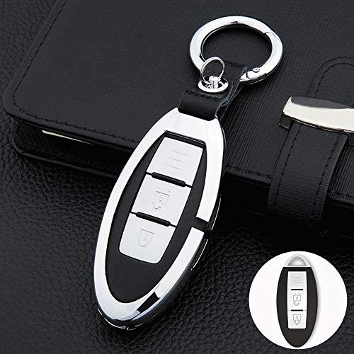 SUNQQB Autoschlüssel Abdeckung Fernschlüssel Schützen Shell Set Zink-Legierung Für Mercedes Benz CSE Klasse W203 W205 W212 C180 GLK300 CLS CLK CLA SLK,Silver Keycover -
