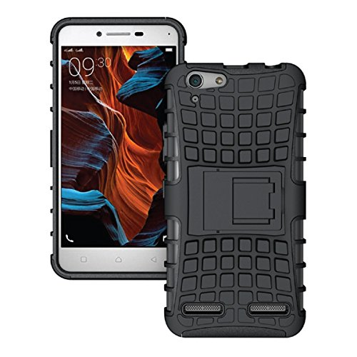 Defender Tough Hybrid Armour Shockproof Hard PC with Kick Stand Rugged Back Case Cover for Lenovo Vibe K5 Plus