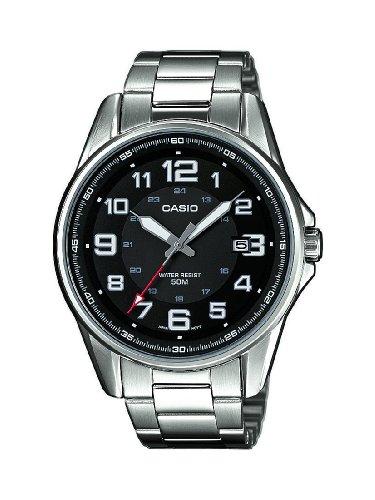 Casio MTP-1372D-1BVEF – Reloj analógico de cuarzo para hombre con correa de acero inoxidable, color plateado