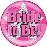 "6"" Jumbo Badge Bride To Be Holographic Dot"