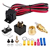 EBTOOLS 50 Amps Relay,Car Universal Engine Electric Cooling Fan Thermostat Temperature Switch, cooling fan thermostat switch 60Amp Sensor Relay kit