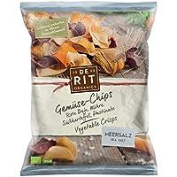 De Ríe verduras chips de sal marina, 5unidades (5x 75g)