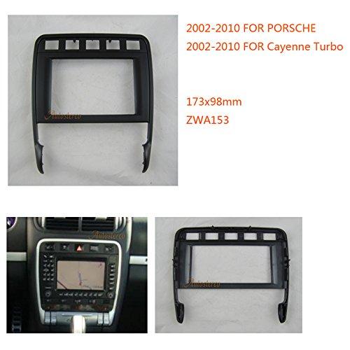 Zwnav Car Audio Radio Cadre de montage panneau de façade d'autoradio pour Porsche Cayenne Turbo 2002–2010 stéréo Façade d'autoradio Dash CD Trim Kit d'installation