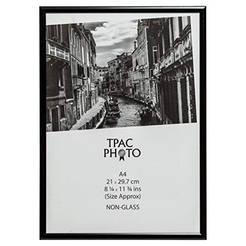The Photo Album Company PAAFA4B-BLK - Marco de fotos de aluminio DIN A4, color negro