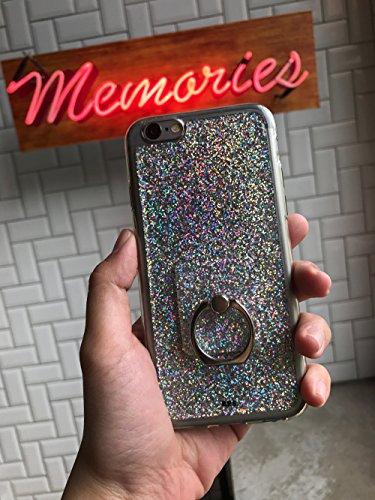 Ottone Paper Smith iPhone 6/6S olografico iridescente glitter a colonna in acrilico di