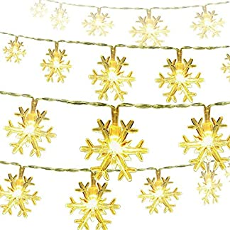 Cortina de Luces, Cadena de Luces, Luz Cadena, LED Guirnaldas luminosas, Resistente al Agua, Decoración de Navidad, Fiestas, Bodas, Jardín, balcón, terraza, ventana.