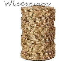 Wicemoon - Cordel de yute natural para regalos y manualidades de floristería - Cordel para artes decorativas